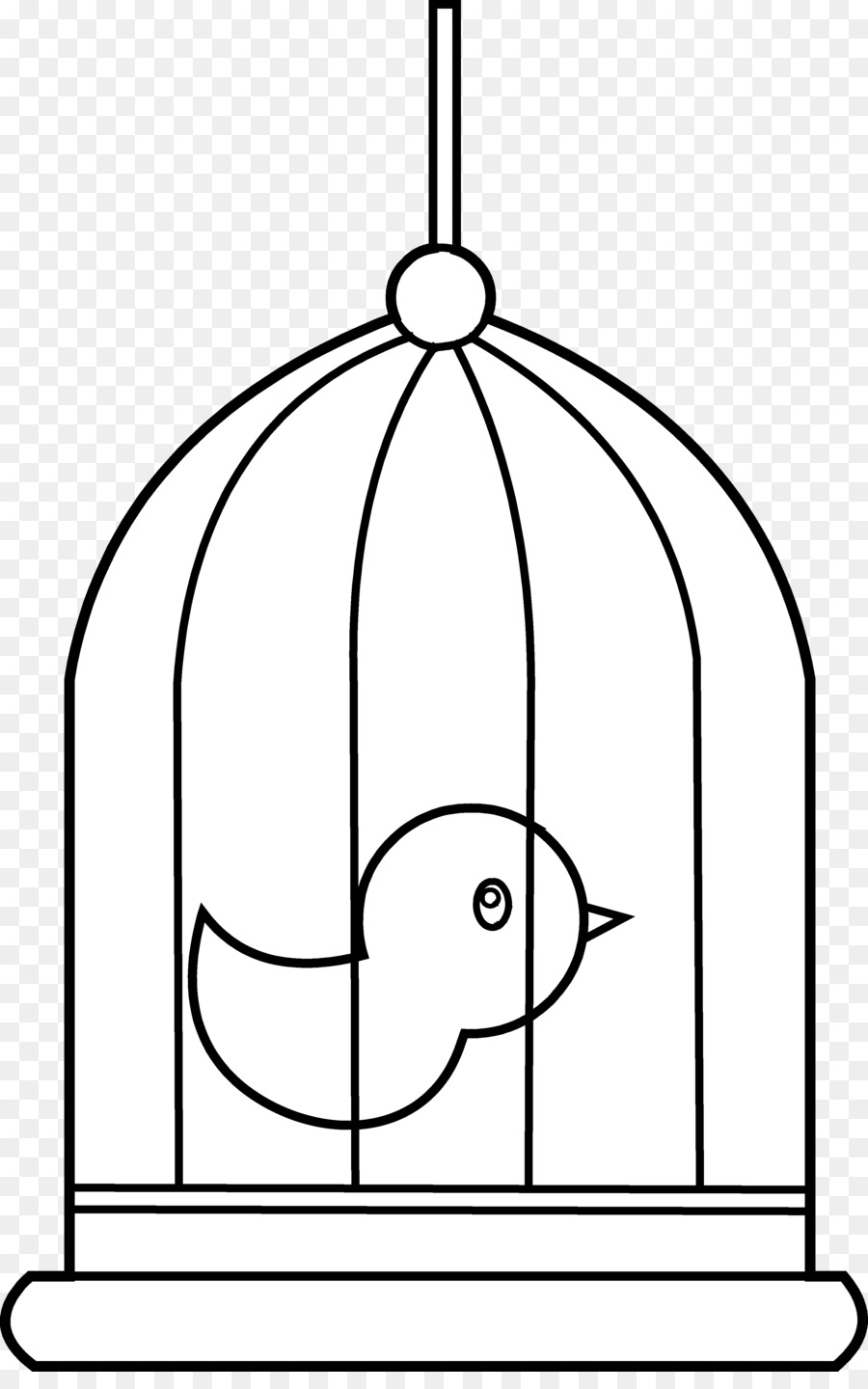 Bird drawing parrot transparent. Cage clipart line