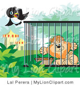 Royalty free bird stock. Cage clipart lion