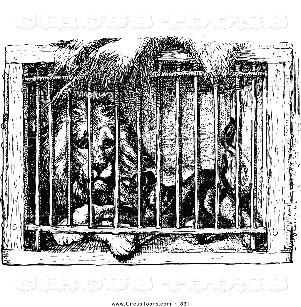 Cage clipart lion.  collection of in