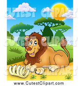 Royalty free stock cute. Cage clipart lion