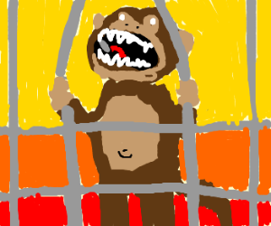 Cage clipart monkey cage. Trying to break out