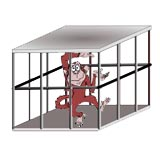 Cage clipart monkey cage. Handwriting for kids alphabets