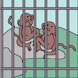 Cage clipart monkey cage. Amei waece title the