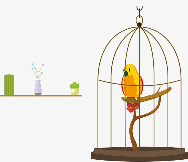 Vector birdcage png and. Cage clipart parrot
