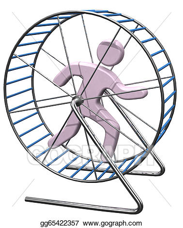 Run in treadmill rat. Cage clipart person