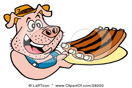 Merry ribs rib clip. Cage clipart pig