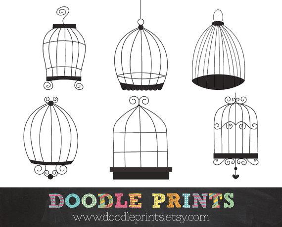 Cage clipart printable. Digital clip art bird
