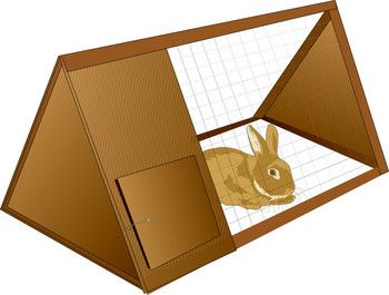 Cage clipart rabbit cage. Easy hutch design plans