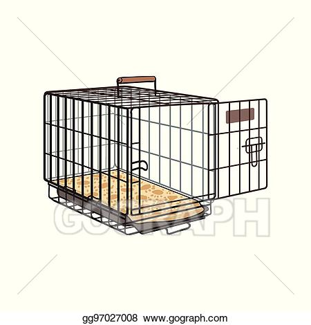 Cage clipart sketch. Vector metal wire crate