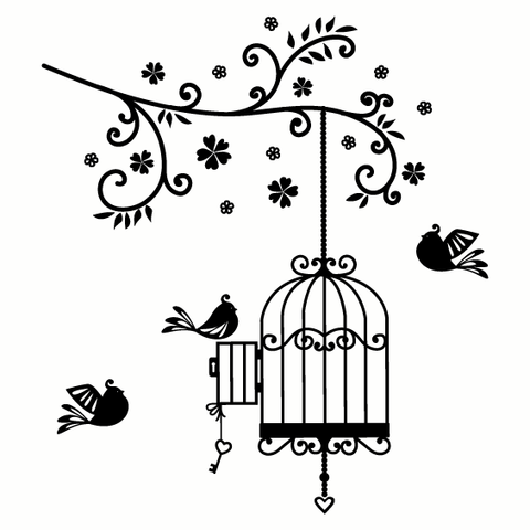 Cage clipart sketch. Old fashioned bird drawing