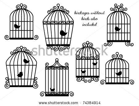 Pin on bird cages. Cage clipart sketch