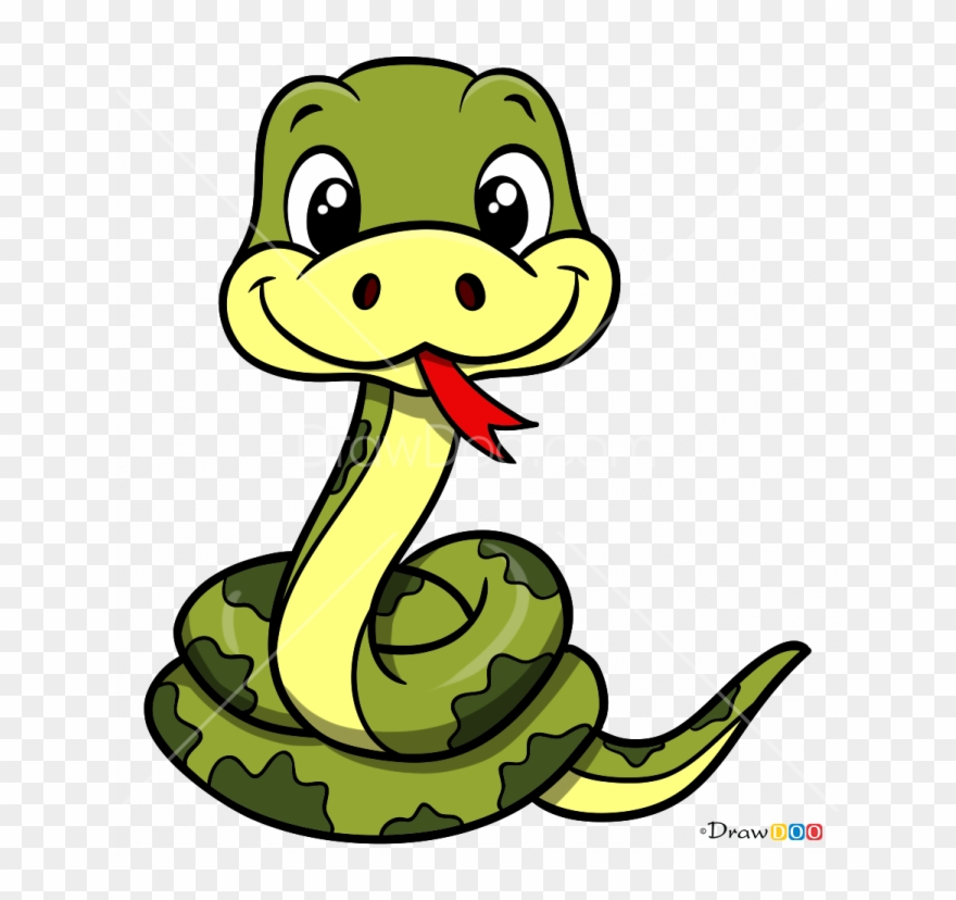 How to draw drawing. Snake clipart cartoon