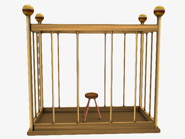 Cage clipart square. Golden iron png image