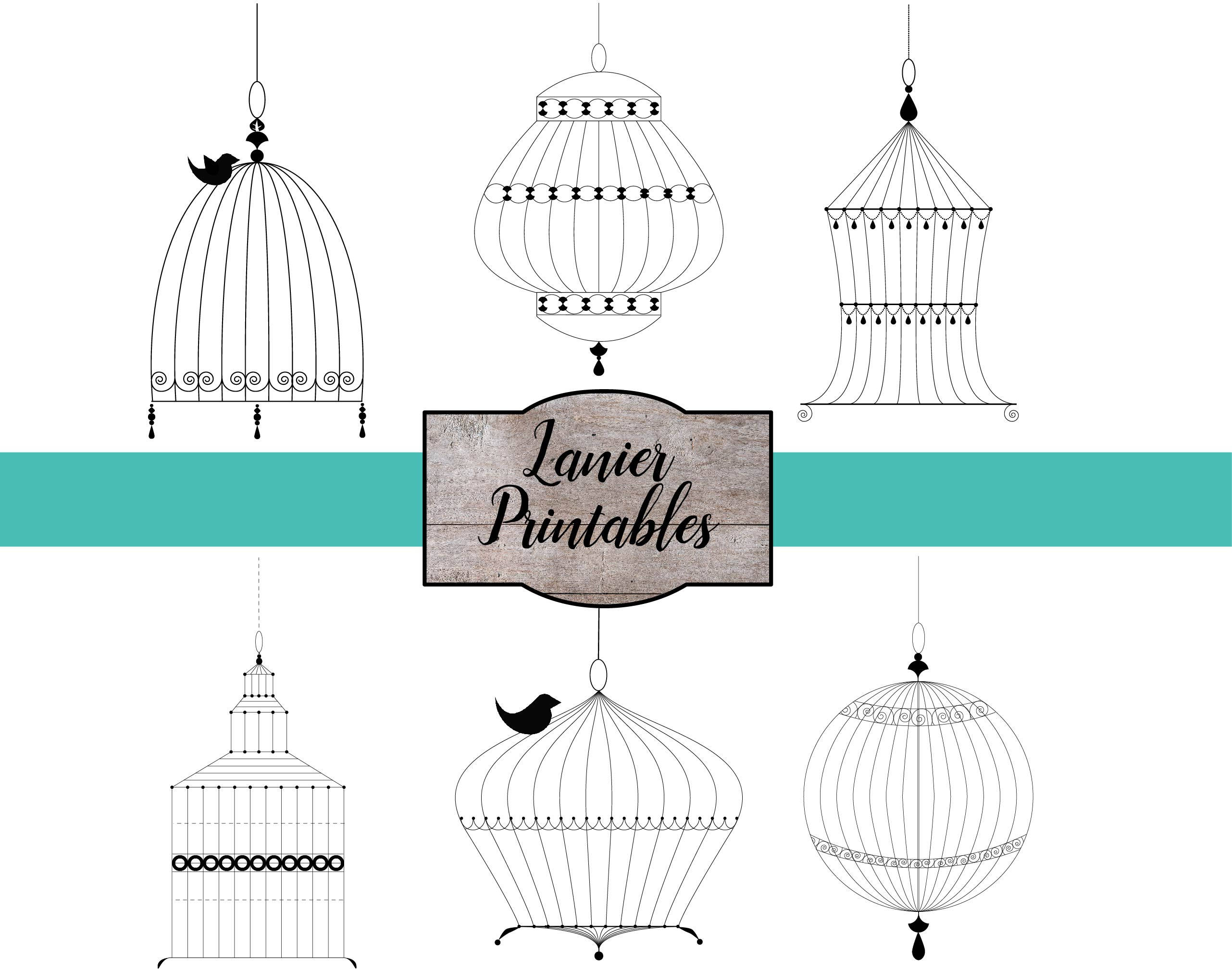 Cage clipart victorian. Bird vintage wedding commercial