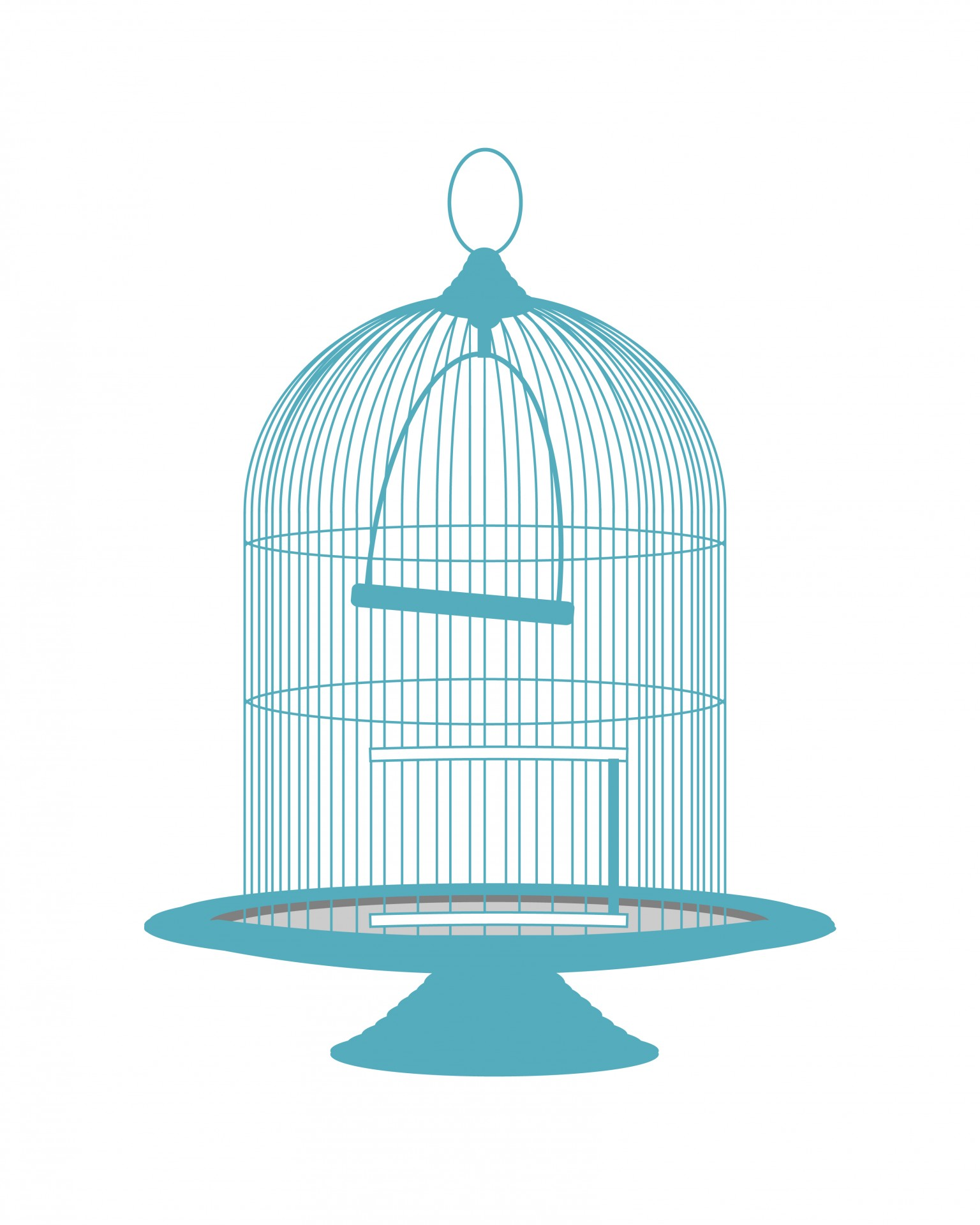 Cage clipart vintage. Blue birdcage free stock