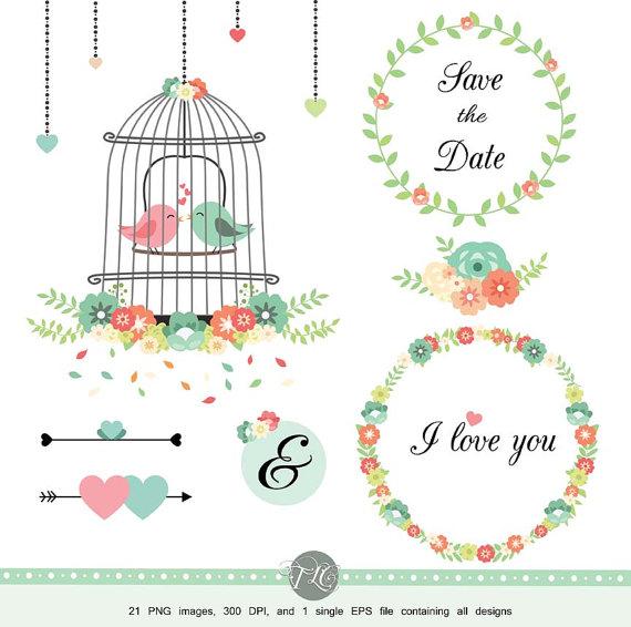 Cage clipart wedding. Flower scrapbook flowers vector