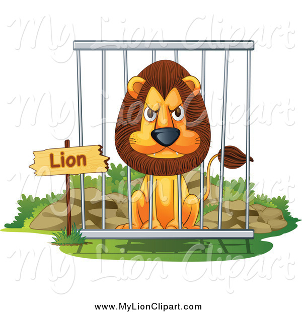 Of a mad male. Cage clipart zoo cage