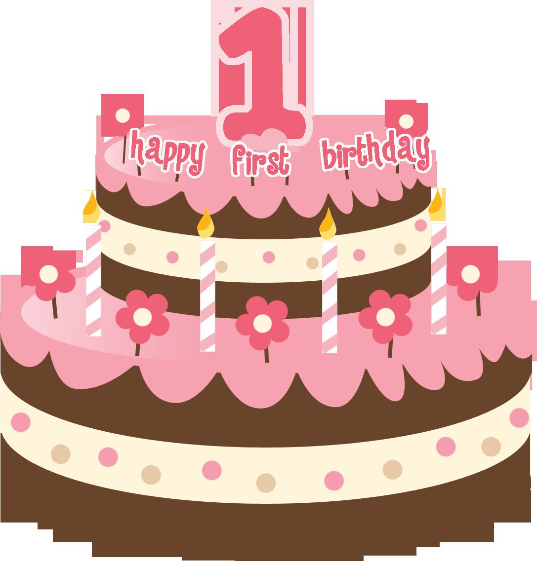 clipart cake 1st