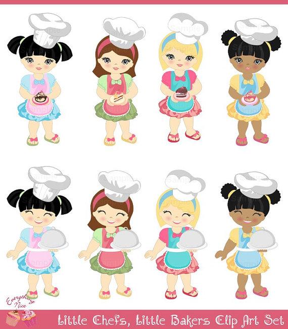 Chef clipart baker. Little chefs bakers cake