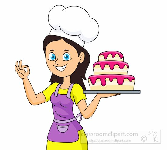 With a large layered. Clipart cake baker