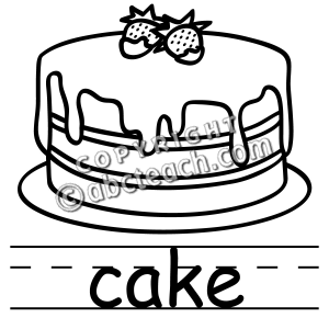 Clip art . Cake clipart black and white