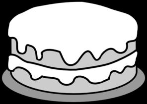 Cake clipart black and white. Clip art panda free