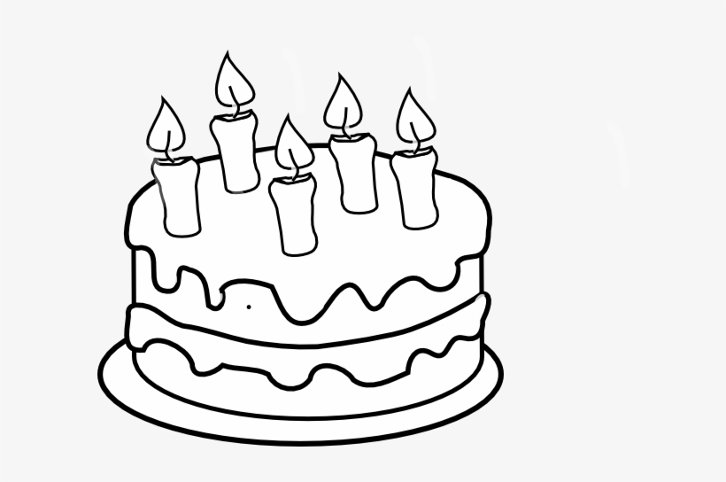 Birthday Cake Clip Art To Color