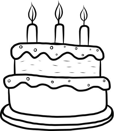 Cake clipart black and white. Free birthday clip art
