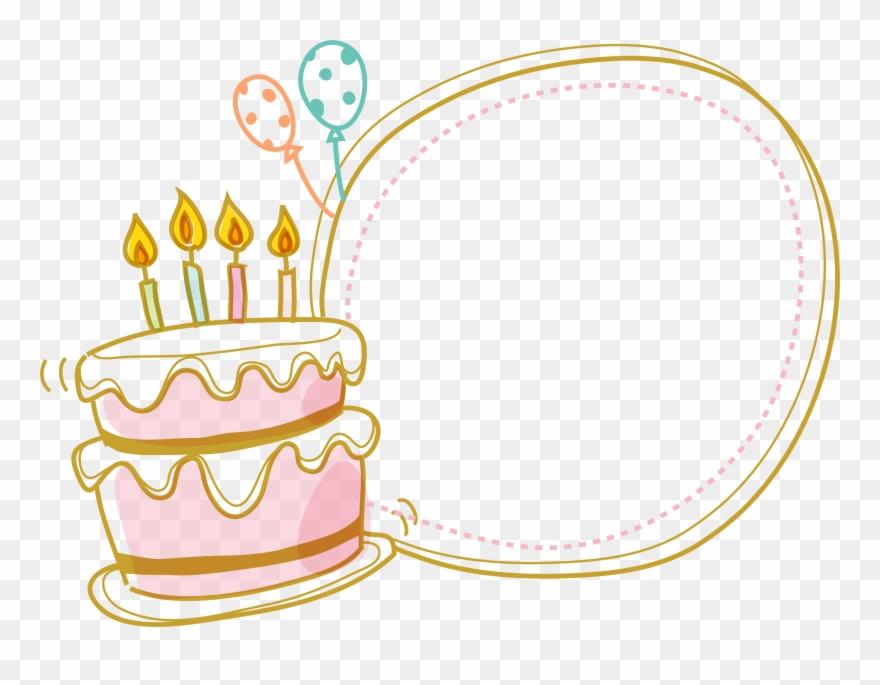 Birthday border free hq. Cake clipart boarder