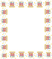 Cake clipart boarder. New year clip art