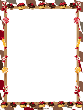 Cake clipart boarder. Delicious chocolate pastries cakes
