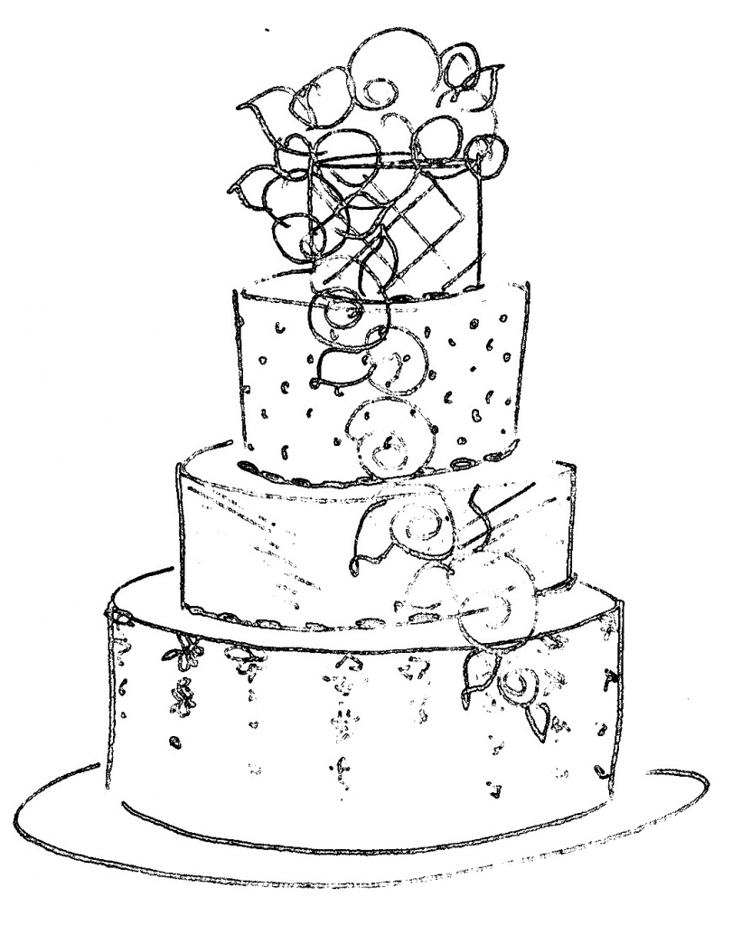 Designs drawing at getdrawings. Cake clipart cake design