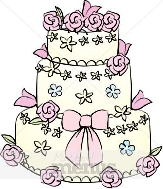 Cake clipart cake design. Spring wedding