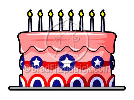 Patriotic clip art th. Cake clipart cartoon