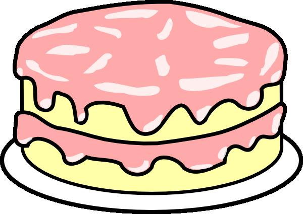 Cake clipart cartoon. Pink wedding clip art