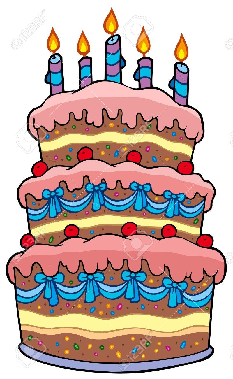 Cake clipart cartoon. Big