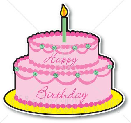 Cake clipart cartoon. Birthday clipartix