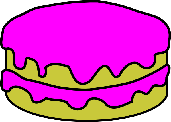 Pink no candles clip. Cake clipart cartoon