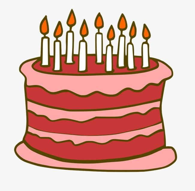 Clipart cake cartoon. Birthday png