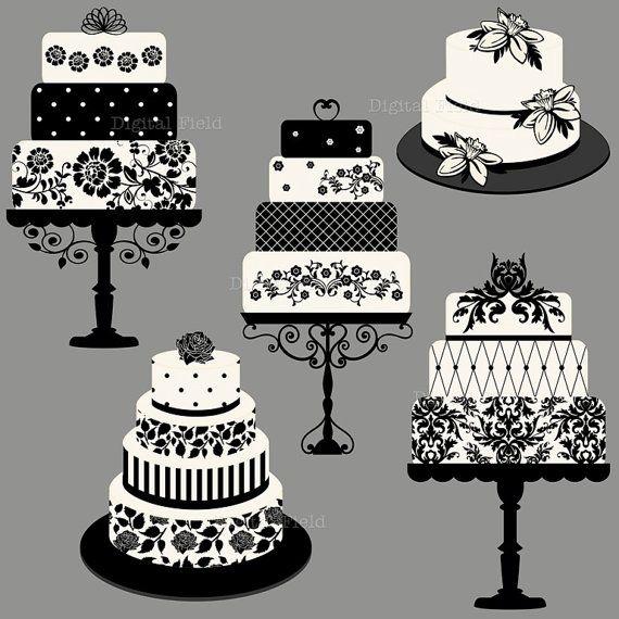 Cake clipart classy. Elegant wedding or birthday
