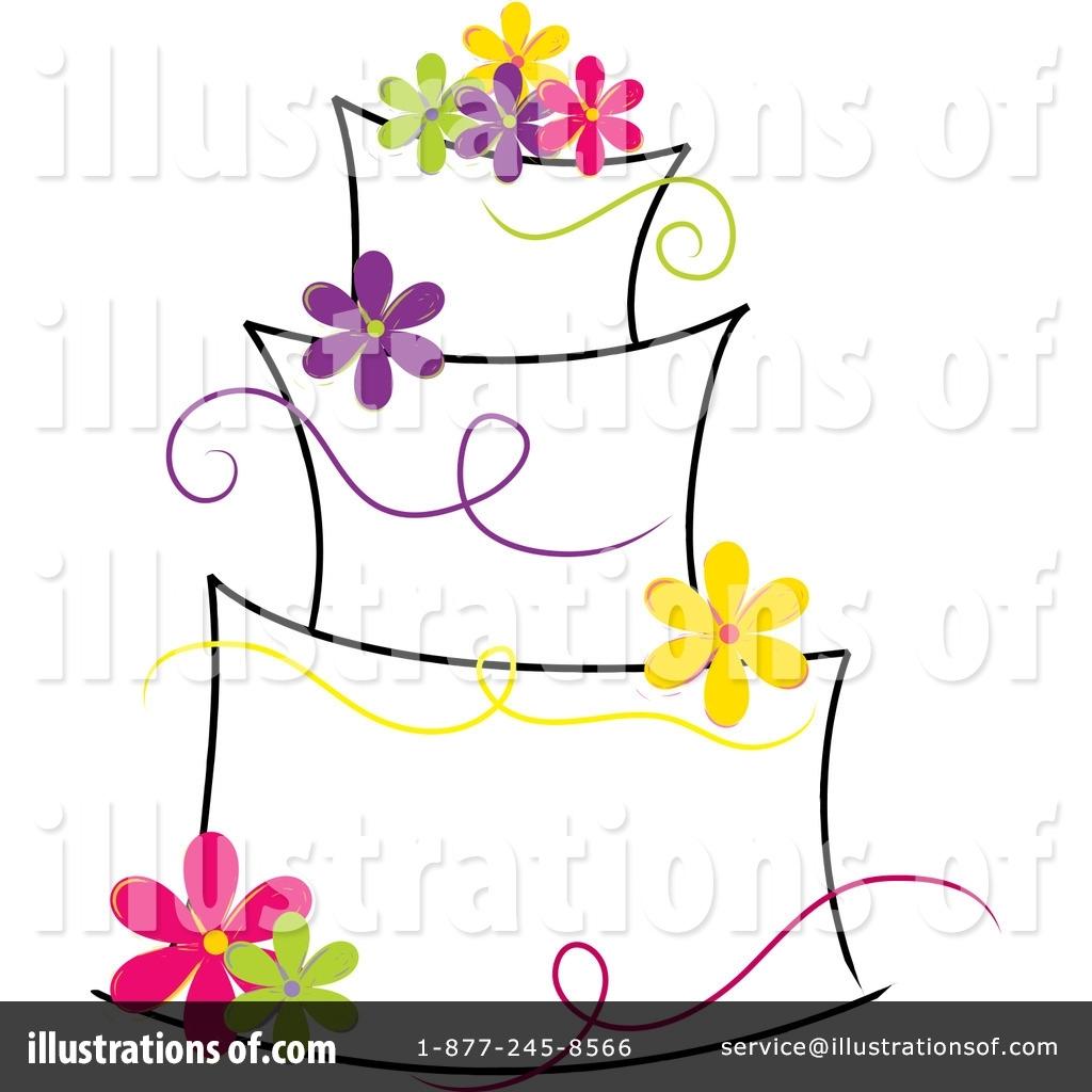 Illustration pams regarding wedding. Cake clipart classy
