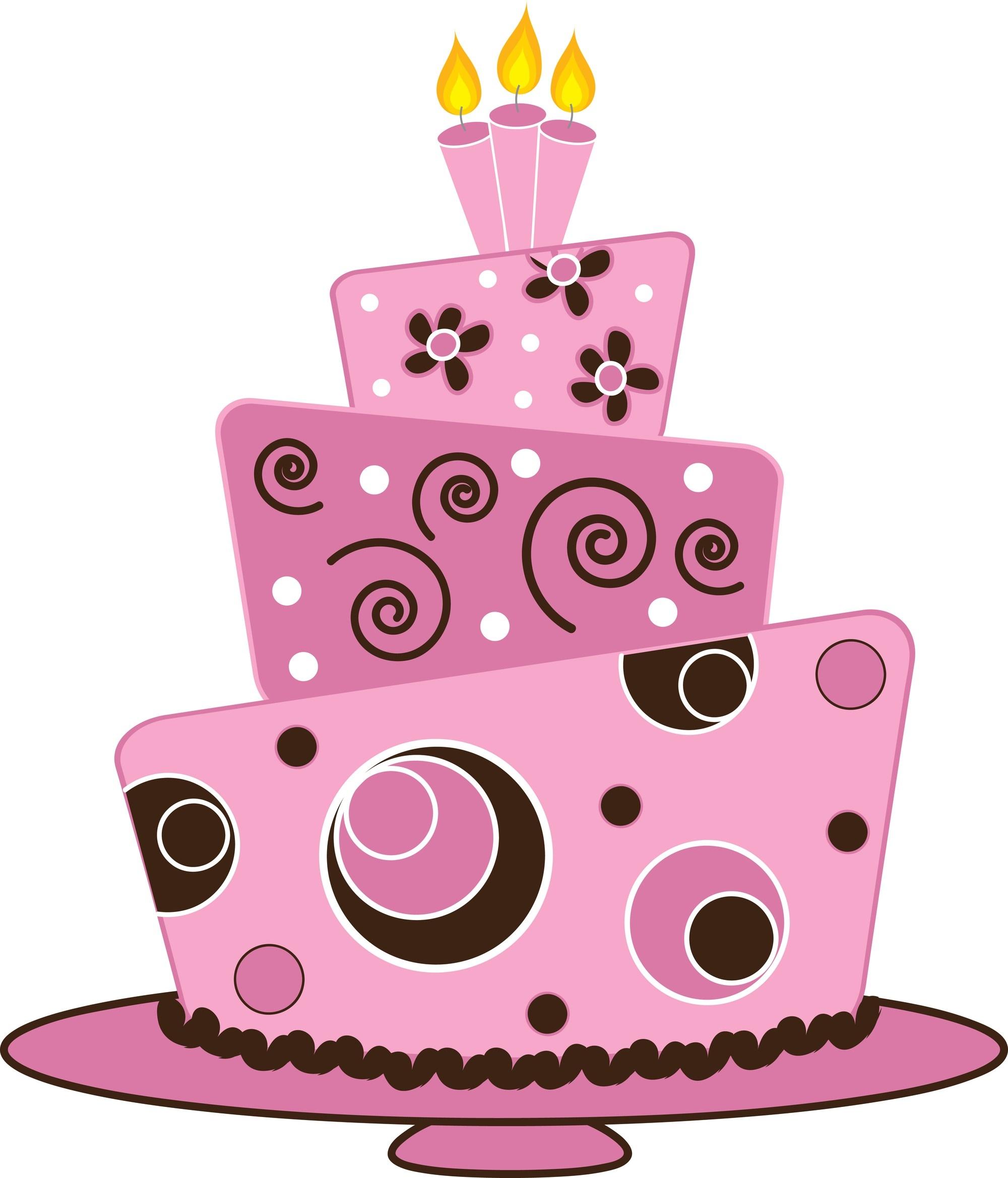 Pink cake clip art. Birthday clipart classy