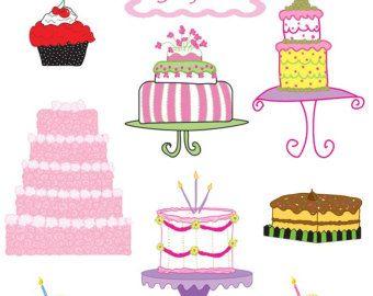 Birthday clip art digital. Cake clipart cupcake