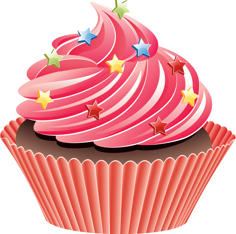 Cup cake group graphic. Food clipart cupcake