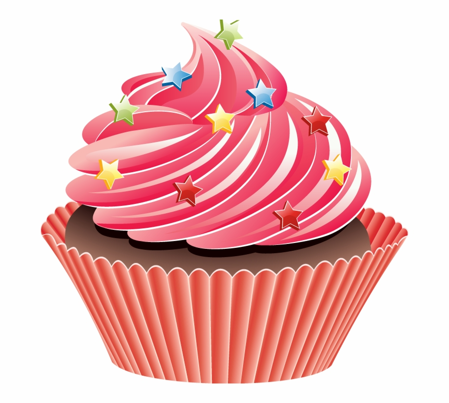 Clipart cupcake star. Cup cake clip art