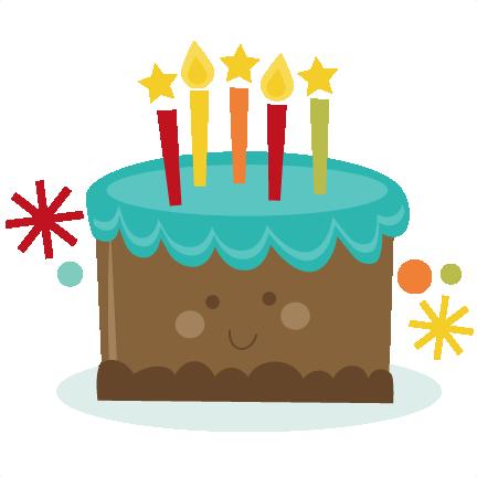 Clipart cake cute. Birthday