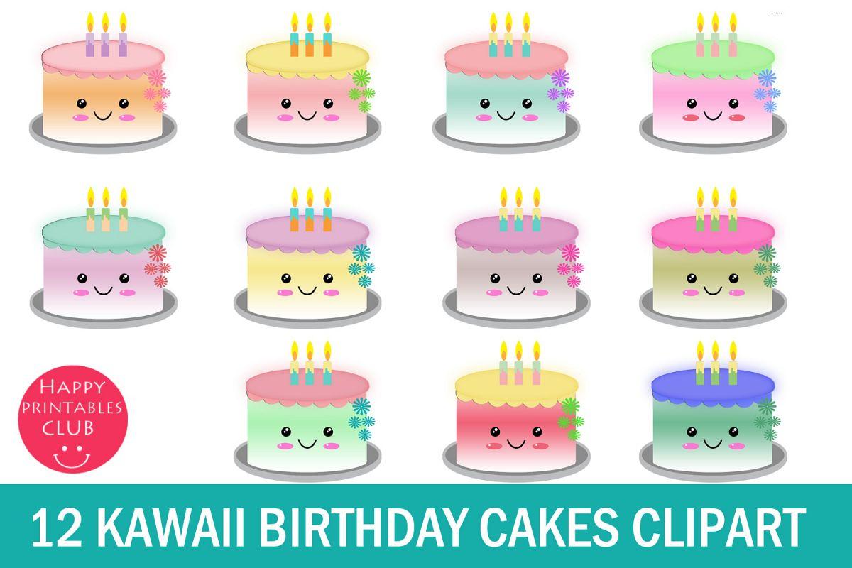 Clipart cake cute.  kawaii birthday cakes