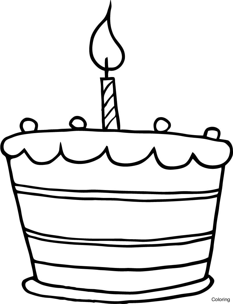 Cake clipart easy. Birthday drawing step by