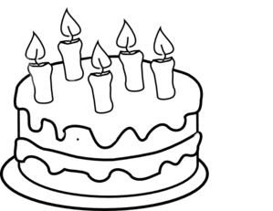 Slice of drawing at. Cake clipart easy