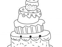 Simple drawing wedding clip. Cake clipart easy